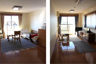 日当たりのよい間取りのお部屋。